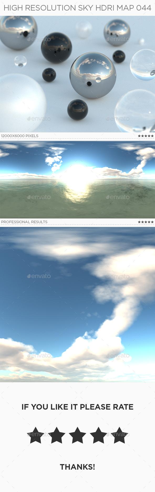 High Resolution Sky HDRi Map 044