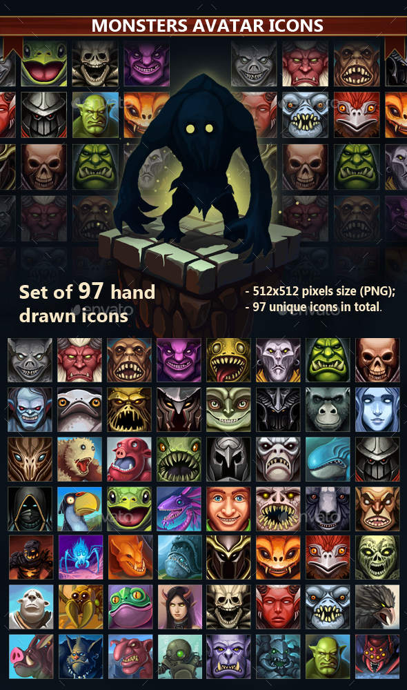 Monsters Avatar Icons (Miscellaneous)