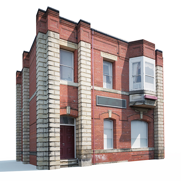 3DOcean Apartment House #161 Low Poly 19842935