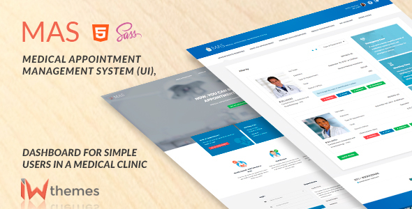Download Medical Appointment Management System (UI),Dashboard for Simple User | Mas