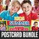 Kids Summer Camp Postcard Bundle