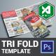 Tri-Fold Menu Template (Light)