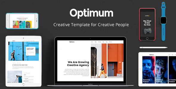 Download Optimum - Creative Template for Creative People
