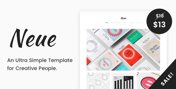 Neue - A Simple Template for Creative People