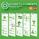 Green Business Infographics Elements