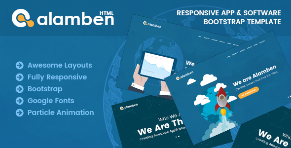 Alamben -  Responsive App & Software Bootstrap Template