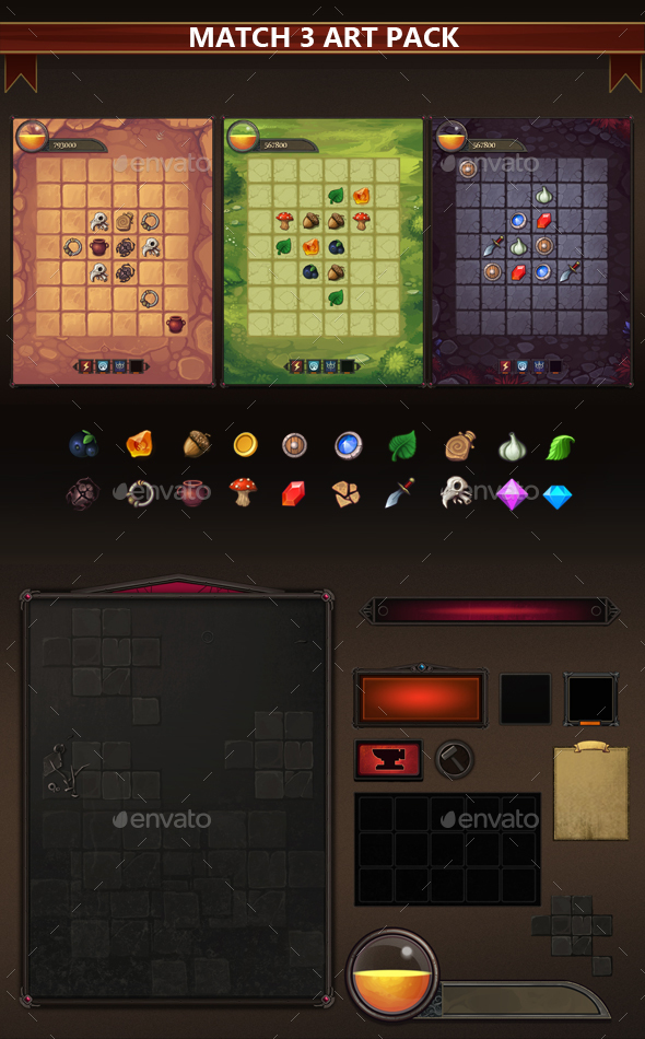 Match-3 Art Pack (Game Kits)