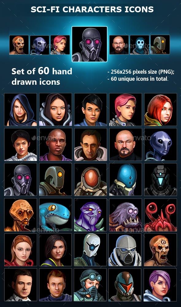 Sci-Fi Characters Icons (Miscellaneous)