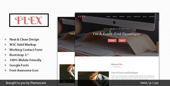 FLEX - Onepage Portfolio Template