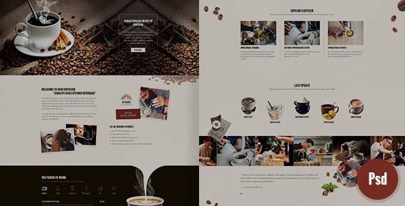 CoffeeSK Psd Template