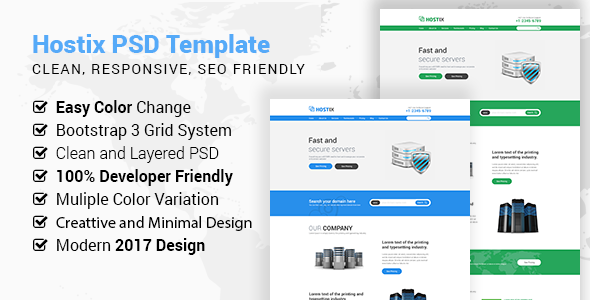 Hostix PSD Template