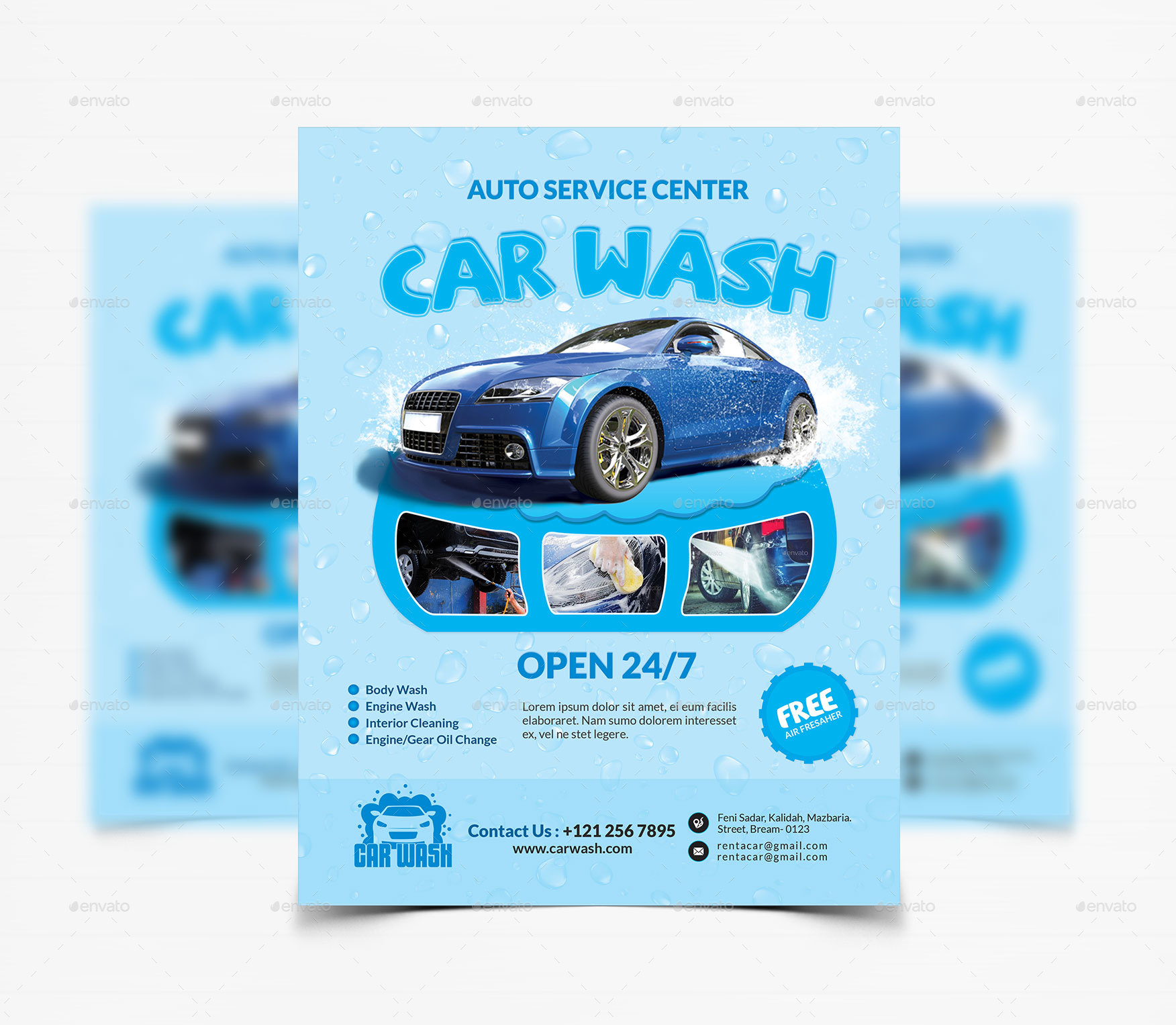 Car Wash Flyer Template by CreativeTouch – Car Wash Flyer Template
