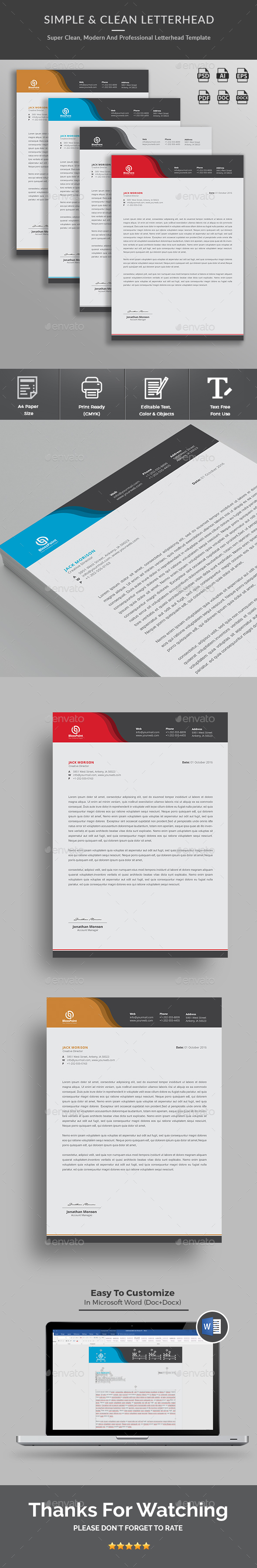 Word Template Graphics Designs Templates from GraphicRiver – Professional Word Templates
