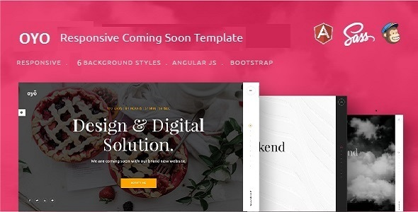 Oyo – Responsive HTML5 Coming Soon Template (Under Construction) images
