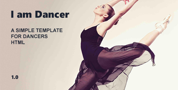 I am Dancer – HTML Template Bootstrap (Creative) images