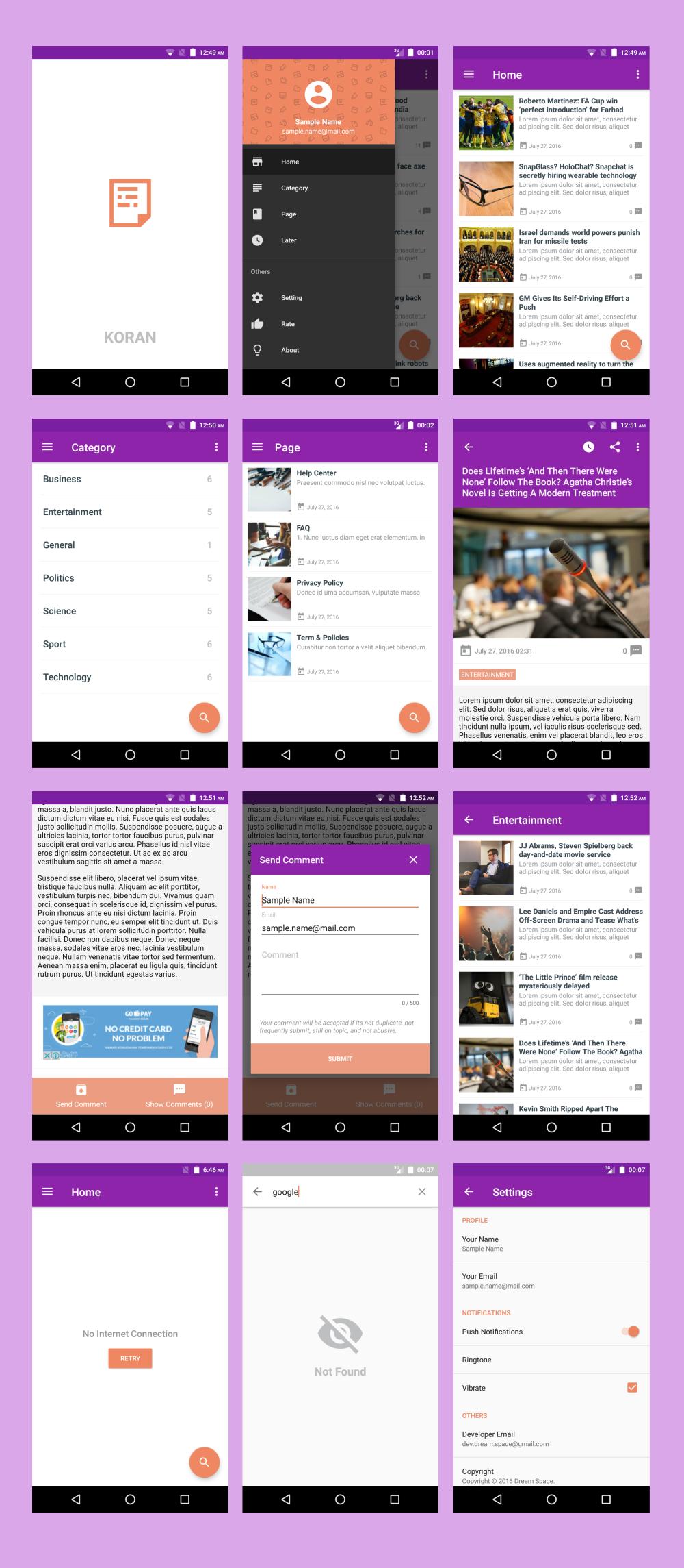 Koran - WordPress App with Push Notification 3.6 - 1