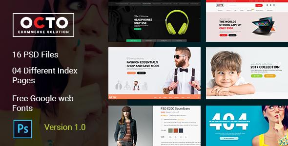 OCTO E-Commerce PSD Template