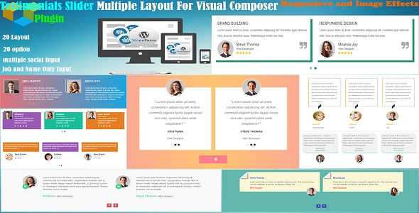 Testimonial Slider Multiple Layout Cool For Visual Composer - CodeCanyon Item for Sale