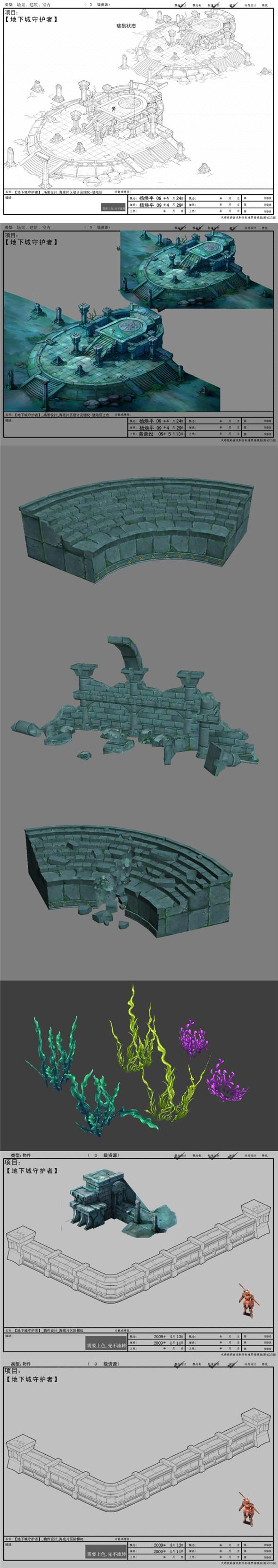 3DOcean Game model interior wall studs altar Arena Strait grass landing Edge Protectors 01 19851500