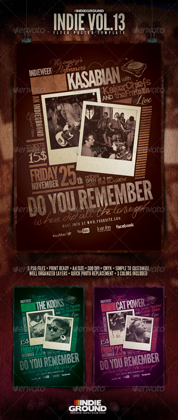 Indie Flyer/Poster Vol. 13 - Clubs & Parties Events
