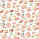 Colored Sketch Poultry Meat Seamless Pattern