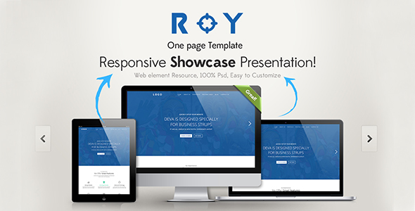 Download Roy One Page HTML Template