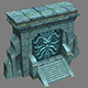 Seabed Arena game model altars 01