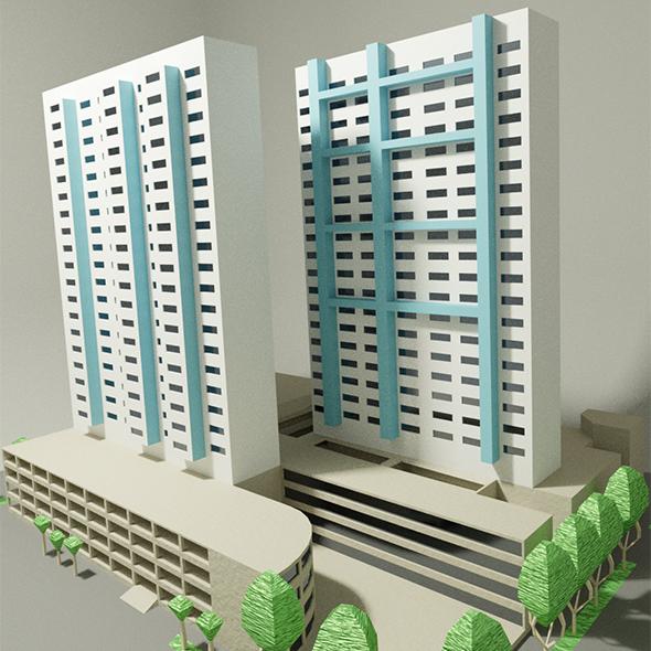 3DOcean Bras Basah building 19853658