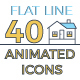 40 Smart Home Icons Set