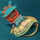 Submarine cartoon world - heavy turtles