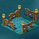 Submarine cartoon world - square railing