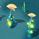 Submarine cartoon world - sea elves lighthouse
