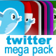 Twitter Megapack - 100  Icons & Web Elements