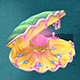 Submarine cartoon world - huge pearl shellfish