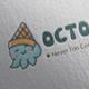 Octopus Ice Cream Logo