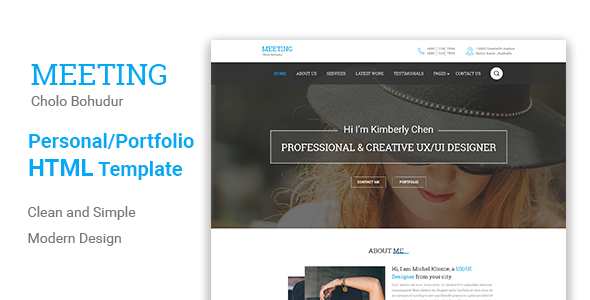 Meeting Html5 Responsive Template (Creative) images