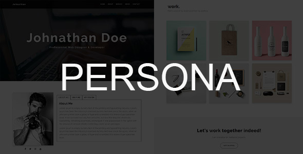 PERSONA – Personal Portfolio Template (Personal) images