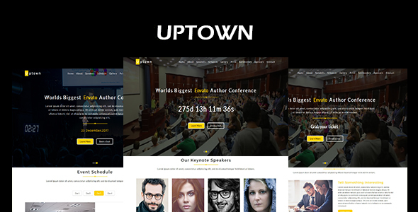 Uptown-Event & Conference Responsive HTML5 Template (Events) images