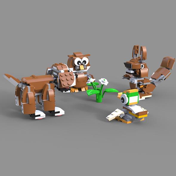 3DOcean Lego Animals 19858651