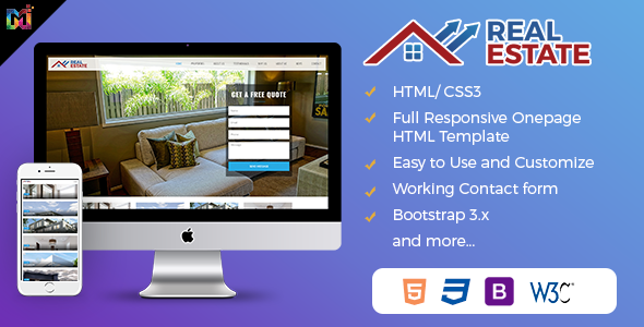 Real Estate – Responsive HTML Template (Business) images