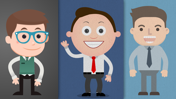VideoHive Business Mascot Collection Pack 19858822