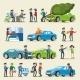 Car Insurance Characters Set