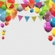 Glossy Helium Balloons with Blank Copy Space