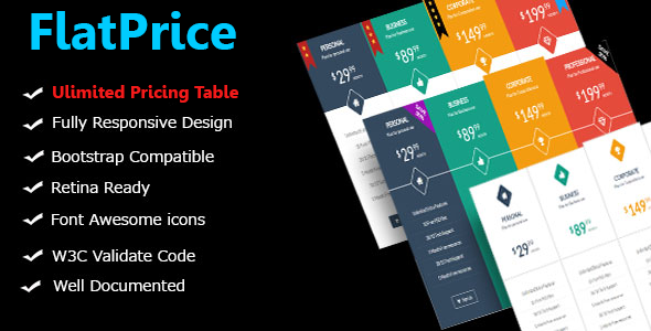 flatprice-preview FlatPrice - Wordpress Pricing Tables (Miscellaneous)