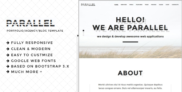 Parallel - Minimal Agency / Portfolio HTML5 Template