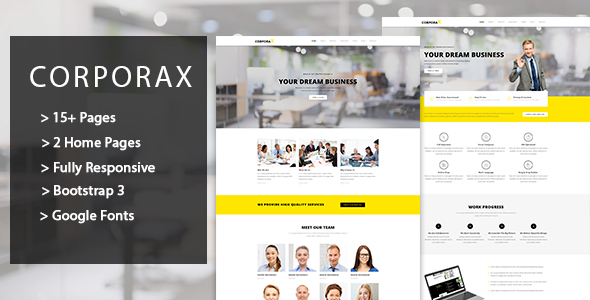 Corporax – Corporate HTML Template (Corporate) images
