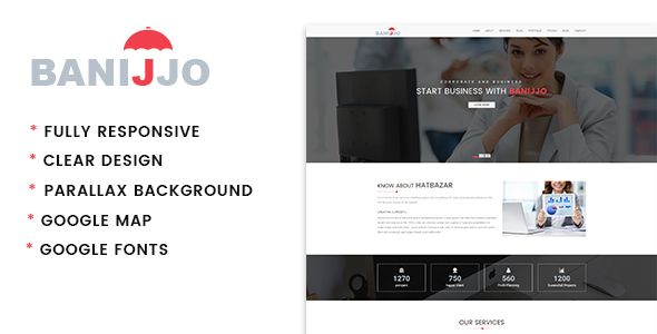 Banijjo – Business HTML Template (Business) images