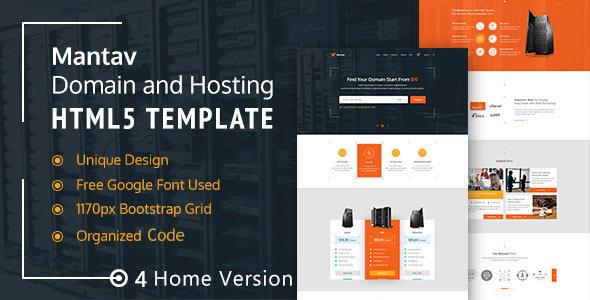 Domain & Hosting Business- Mantav HTML5 Template