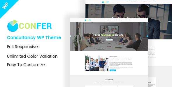Confer - Consultancy, Finance & Business WordPress theme