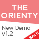 TheOrienty - A Skew Header Blog Theme